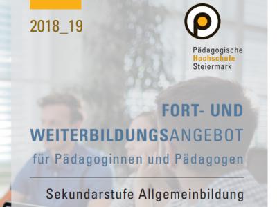 Fortbildungsprogramm für Geographie und Wirtschaftskunde 2018/19